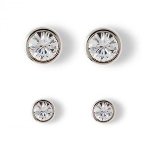 Swarovski crystals stud earrings bundle